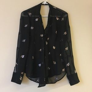 💙NWOT💙 Nasty Gal Glittered Button Down Blouse